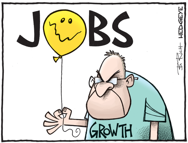 Cartoon of the Day: Employment Growth Slowing - jobs cartoon 08.08.2016