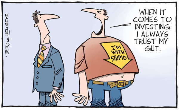 Is Investor Complacency Rising? - trust my gut cartoon 10.14.2015  2