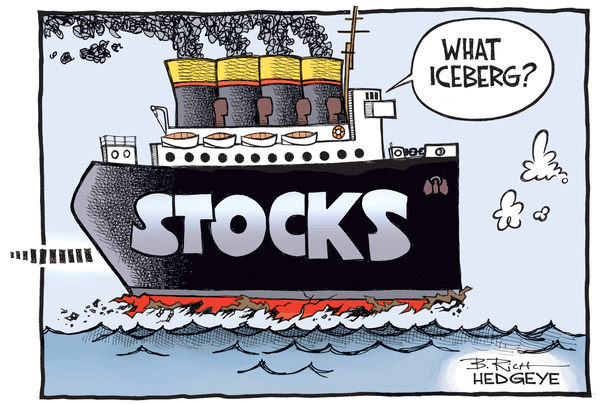 This Week In Hedgeye Cartoons - Stocks Titanic cartoon 08.18.2016