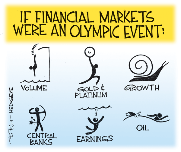 Investing Ideas Newsletter - Financial olympics cartoon 08.16.2016
