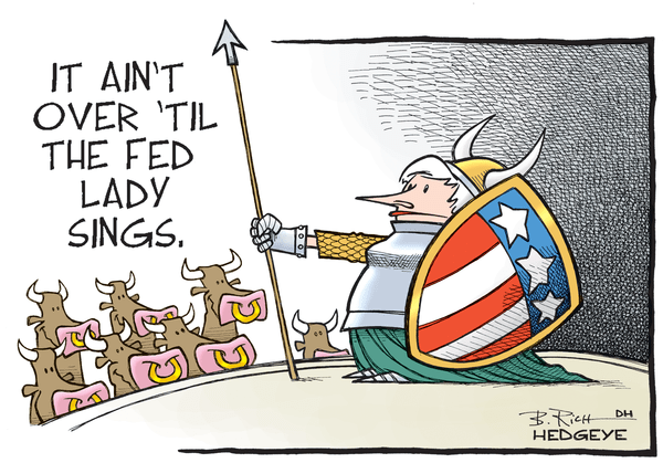 It Ain't Over Till The Fed Lady Sings But... - Fed lady cartoon 06.25.2016