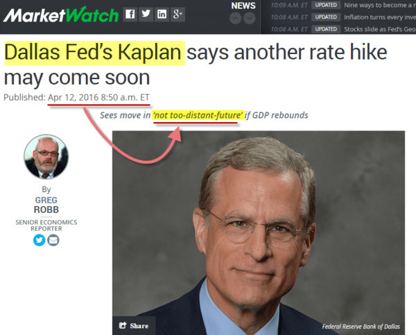 Nonsense - fed kaplan