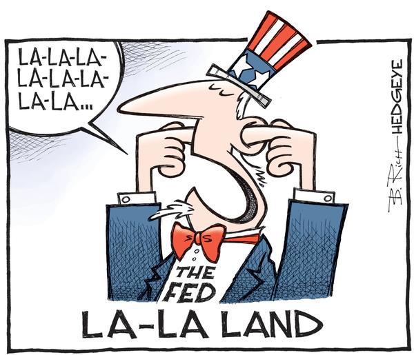 Cartoon of the Day: Fed Fingers - Fed La La Land cartoon 09.15.2016