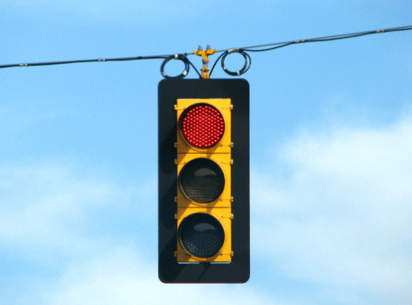 6 of 13 Key Indicators Flashing Warning Signals - red light