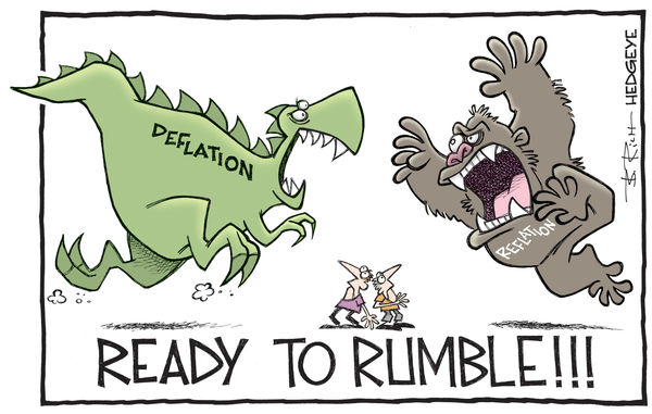 Cartoon of the Day: The Great Debate - Deflation v reflation cartoon 09.19.2016