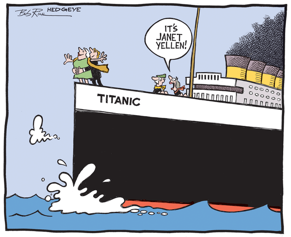 Hedgeye Guest Contributor | Thornton: Is Fed Policy As Potent As Yellen Thinks It Is? - yellen titanic6 9 14