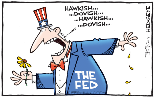 This Week In Hedgeye Cartoons - Fed hawkish dovish cartoon 09.20.2016
