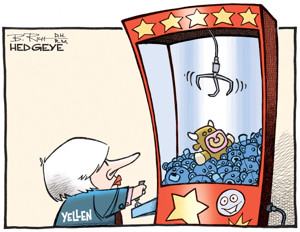 Cartoon of the Day: Yellen's Arcade - Yellen   toy animals 09.27.2016