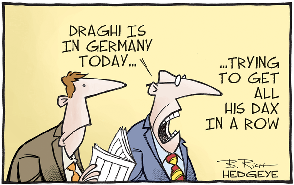 This Week In Hedgeye Cartoons - Draghi DAX cartoon 09.29.2016