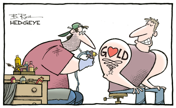 Hedgeye Guest Contributor | 6 Reasons Why Fed Policy Will Push Gold Prices Higher - Gold cartoon 08.11.2016