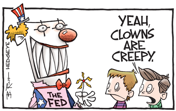 This Week In Hedgeye Cartoons - Fed clown cartoon 10.05.2016