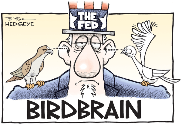 Yellen's Favorite Economic Indicator Is Still Falling - Fed birdbrain cartoon 06.15.2015