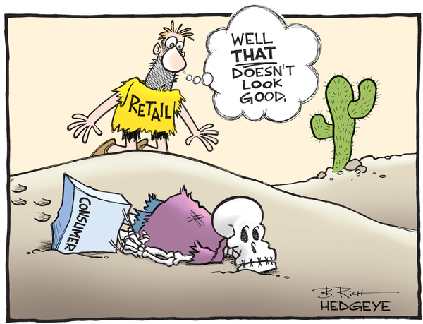 The Wall Street Journal Misses the Mark On Deteriorating Retail Sales - retail cartoon 05.13.2016