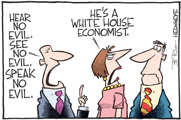 Cartoon of the Day: Turning A Blind Eye - White House economist cartoon 10.14.2016