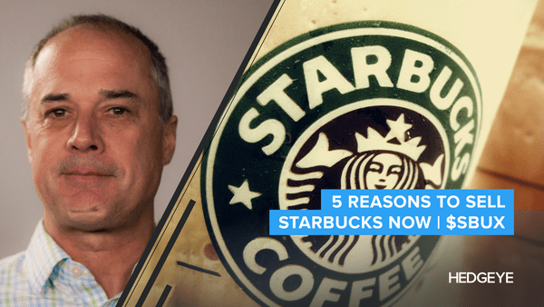 5 Reasons To Sell Starbucks Now | $SBUX - Restaurants SBUX 10.14.2016
