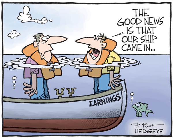 Cartoon of the Day: (Not So) Smooth Sailing - earnings cartoon 10.17.2016