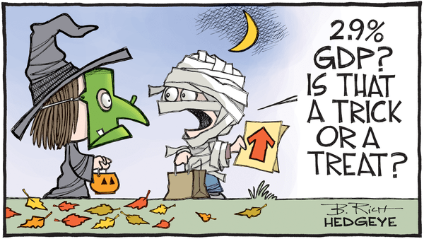 This Week In Hedgeye Cartoons - GDP tick or treat cartoon 10.28.2016