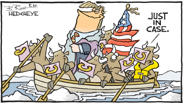 Cartoon of the Day: Trump Crossing The Delaware - Trump crossing the Delaware
