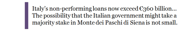 Guest Contributor: Mamma Mia! Why Italian Bank Bailouts Won't Be Enough - italy monte