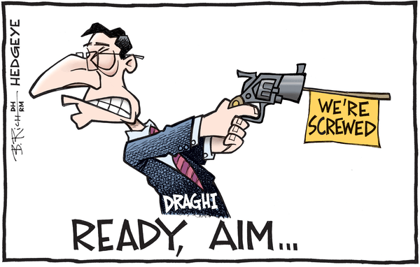 [From The Vault] Cartoon of the Day: Out of Ammo? - Draghi cartoon 03.09.2016