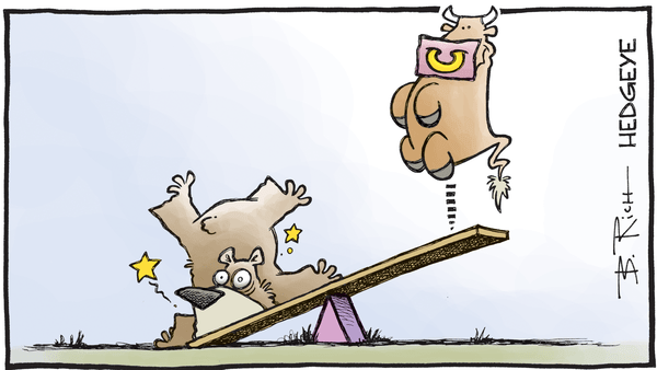 Cartoon of the Day: The Market Seesaw - Bear bull teeter totter 12.27.2016
