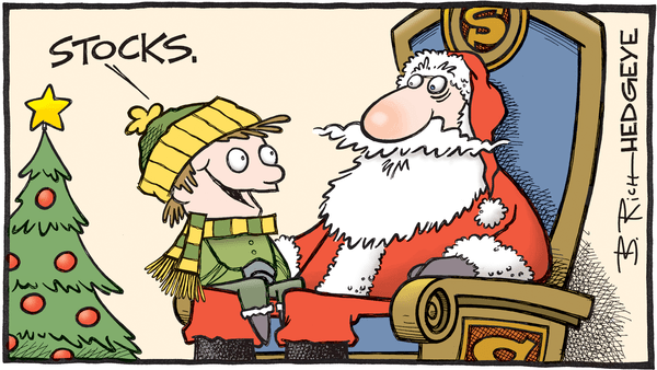 7 Cartoons Capture Everything An Investor Needs to Know Post-Election - Santa stocks cartoon 12.21.2016