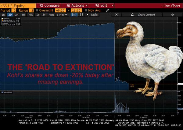 Why Are Kohl's Shares Down -20% Today? It's On The Road To Extinction - kohls image dodo2