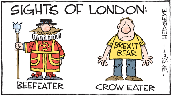 Cartoon of the Day: Eating Crow - Brexit cartoon 01.05.2016