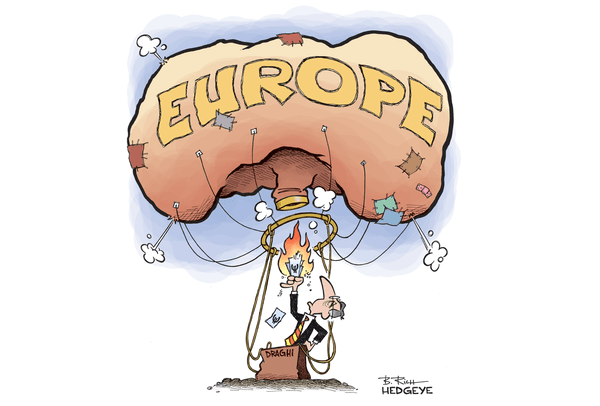 Guest Contributor: Why Europe's Economic Woes Won't Be Fixed By Inflation - draghi euro balloon