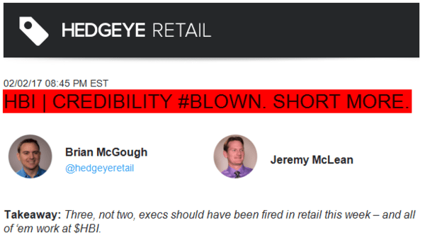 Had You Listened to McGough's Big Short Call On This Stock... - zhanes
