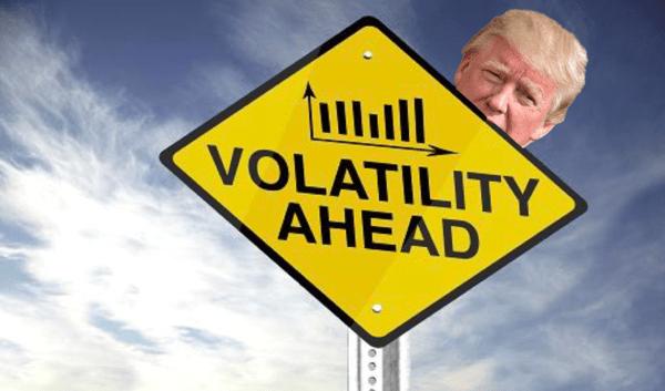 Stock Market Volatility Is Falling: Blame Trump? - trump volatile