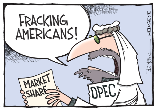 The Saudi Oil Minister's Gonna Need a Bigger Jaw - OPEC cartoon 04.24.2015