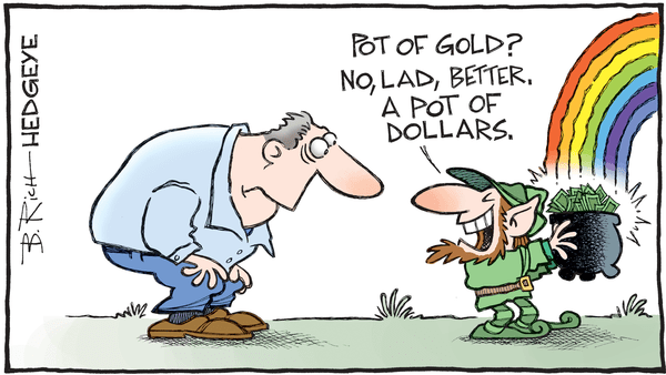 Cartoon of the Day: Happy St. Patrick's Day! - 03.17.2017 pot of dollars cartoon