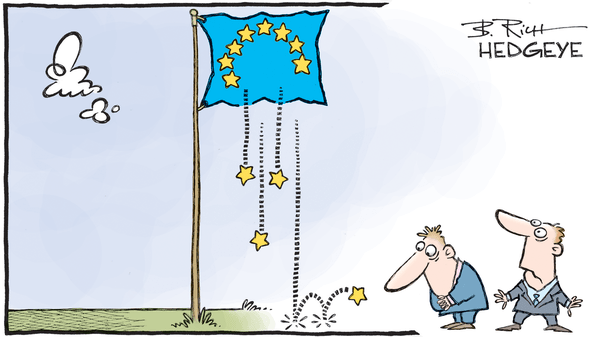 Europe Is Exuberant Today! Short It. - Eurozone cartoon 02.21.2017