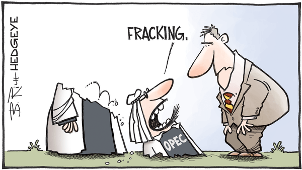 Cartoon of the Day: Fracking Americans! - 03.22.2017 OPEC fracking cartoon