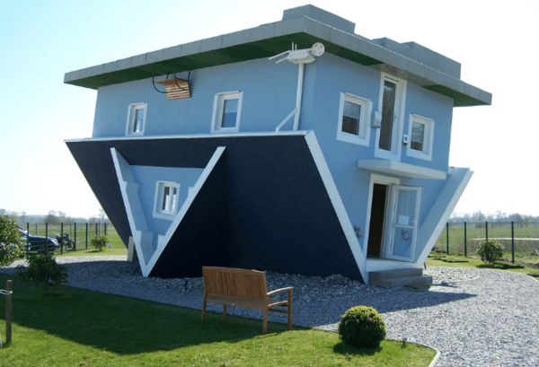 Regulation is the Issue in Housing Finance - upside down house