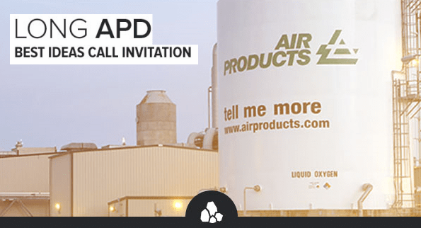 Air Products & Chemicals (APD): A New Best Idea Long Call - apd best idea