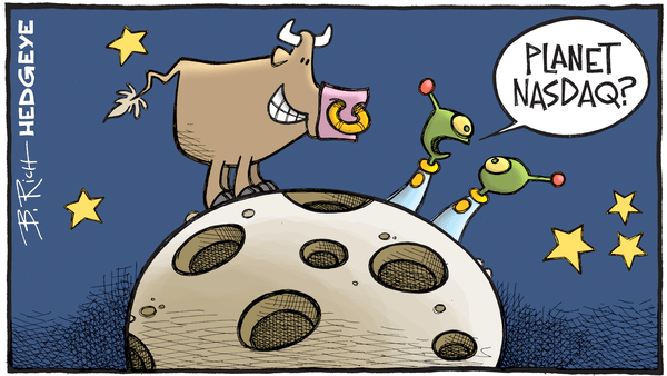 Cartoon of the Day: Intergalactic Bull - 09.20.2017 planet nasdaq cartoon