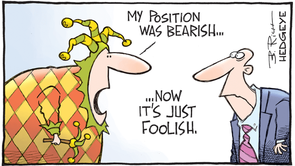 Cartoon of the Day: Fool - 09.26.2017 bearish foolish cartoon