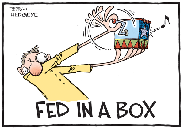 Don't Panic: The Sooner the Fed Gets Back to Normal the Better - Fed in a box cartoon 09.16.2015
