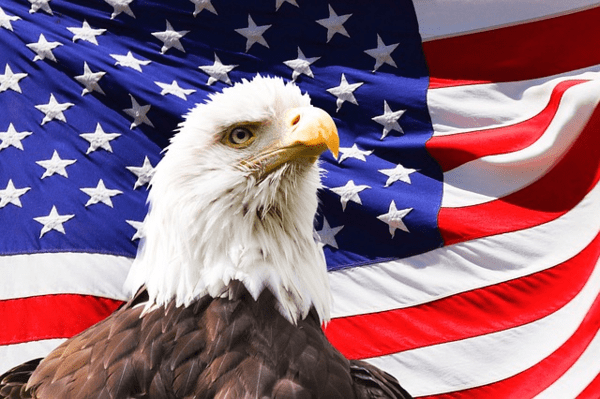 Q3 GDP: Closest to the Pin (Again) and Why Bears Need Gin - American Flag with Eagle