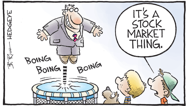 Cartoon of the Day: Bounce Back - 11.13.2017 stock market trampoline cartoon