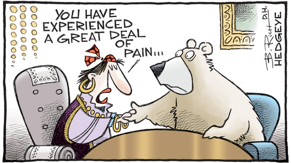 10 Cartoons Capture This Epic Bull Market - 10.10.2017 bear palm reader cartoon
