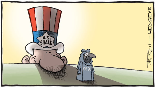 Vienna Dispatch: Shale's Shadow Looms Over OPEC Meeting - OPEC US shale cartoon 11.30.2017