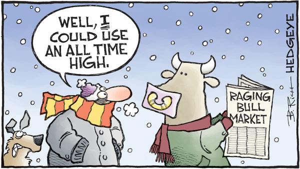 Cartoon of the Day: Record Cold. Record Stocks. - 01.03.2018 ATH cold cartoon