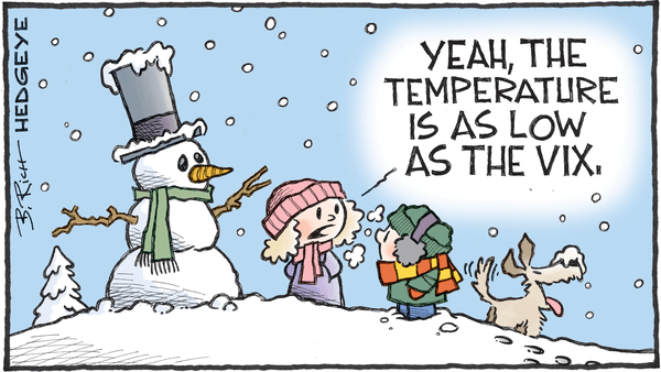 Cartoon of the Day: Frigid Lows - 01.04.2018 VIX cartoon