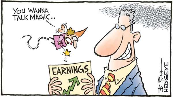 Cartoon of the Day: Magic! - 02.21.2018 earnings cartoon