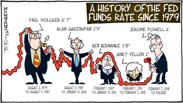 Powell, A Welcome Surprise - 03.22.2018 Fed Chair cartoon NEW
