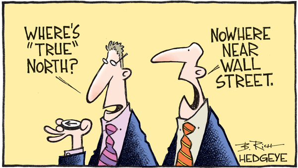 Earnings Estimates Sky High: What's Wall Street Smoking? - Wall Street cartoon