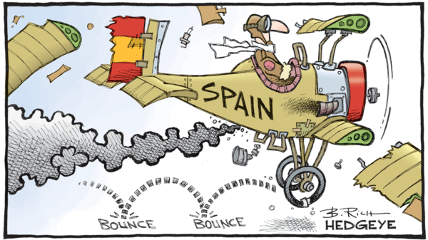 After Italy… Spain Risk Soars - 10.13.2017 Spain cartoon